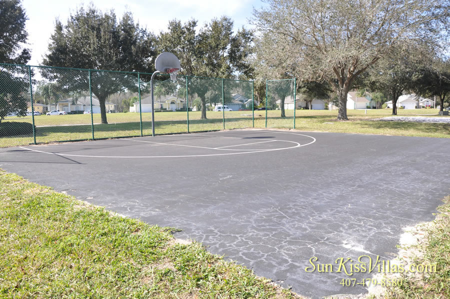 Bridgewater Crossing vacation home community basketball court