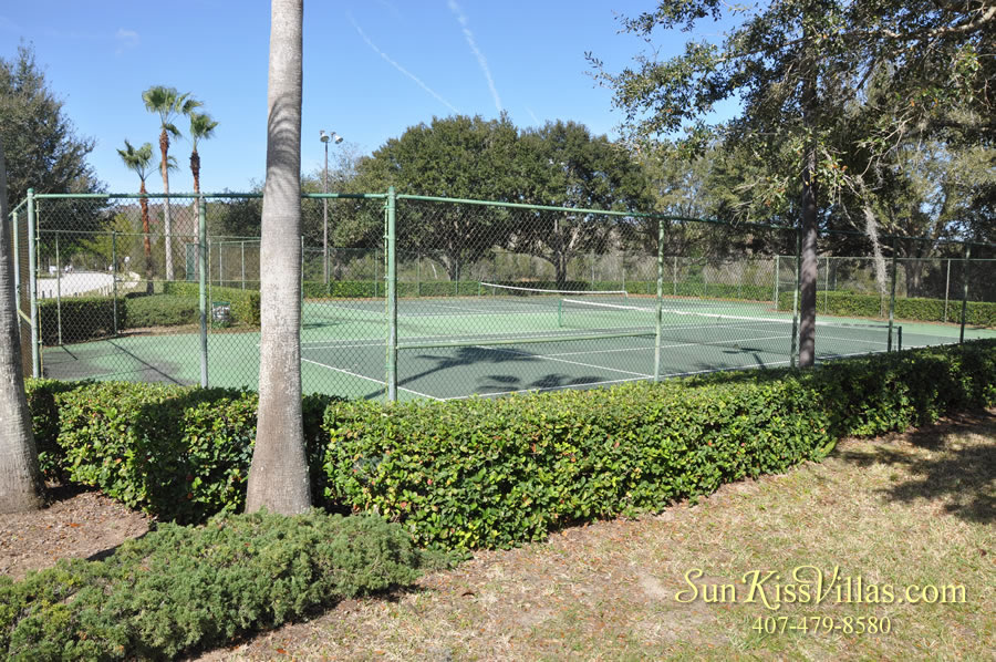 Bridgewater Crossing vacation home community tennis court