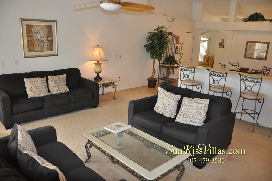 Orlando Vacation Rental Home Near Disney - Cypress Grand - Family Room