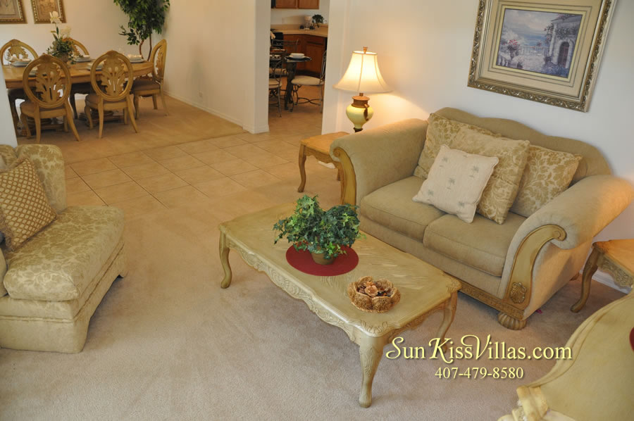 Orlando Vacation Rental Home Near Disney - Cypress Grand - Living Room