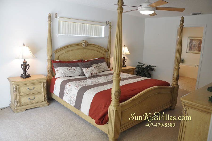Orlando Vacation Rental Home Near Disney - Cypress Grand - Master Bedroom