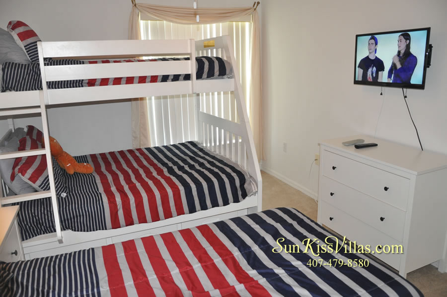 Orlando Vacation Rental Home Near Disney - Cypress Grand - Bunk Bedroom