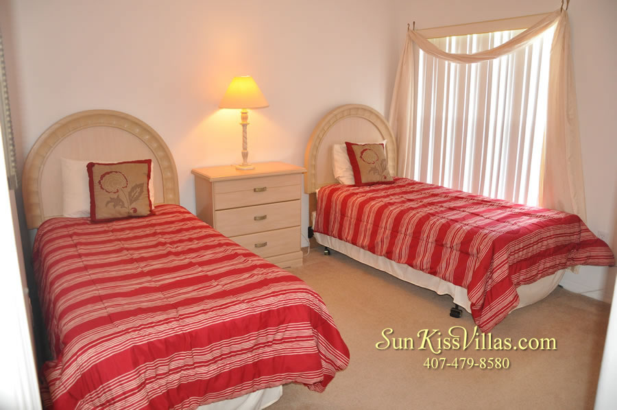 Orlando Vacation Rental Home Near Disney - Cypress Grand - Twin Bedroom