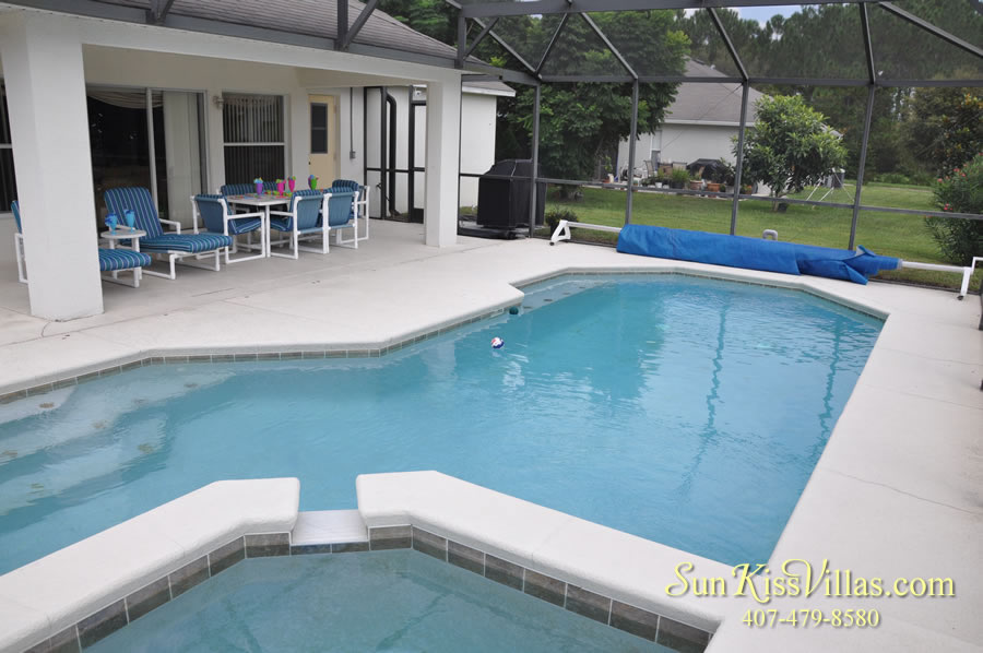 Orlando Vacation Rental Home Near Disney - Cypress Grand - Pool and Covered Lanai