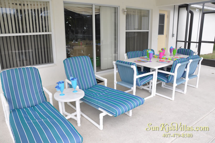 Orlando Vacation Rental Home Near Disney - Cypress Grand - Covered Lanai
