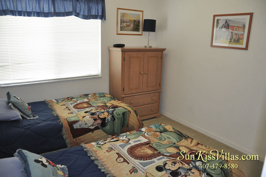 Orlando Vacation Rental - Disney Fun - Twin Bedroom