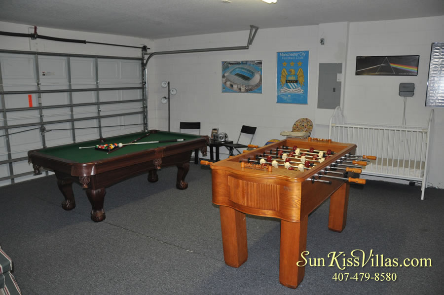 Orlando Vacation Rental - Disney Fun - Game Room