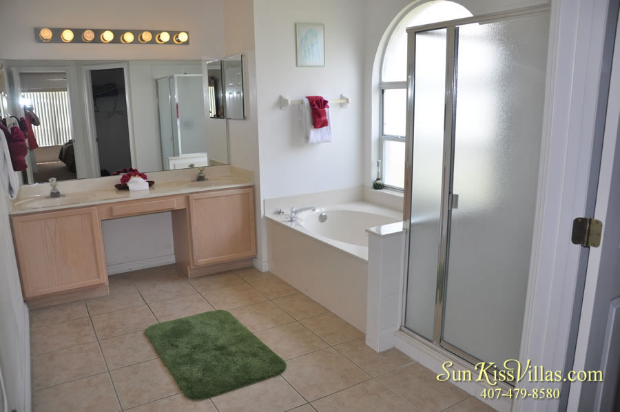 Disney Palm Vacation Home Rental - Master Bath