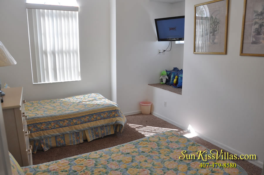 Disney Vacation Home Rental - Disney Palms - Twin Bedroom