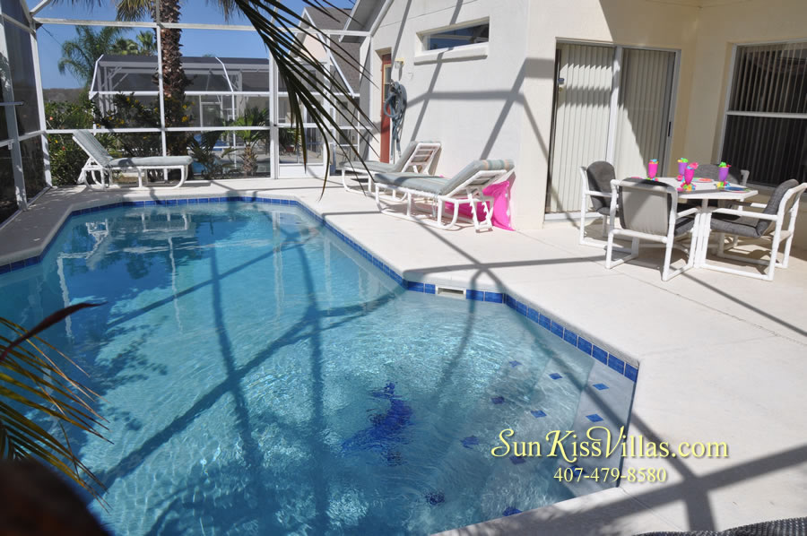 Disney Vacation Rental - Durango Palms - Pool and Covered Lanai