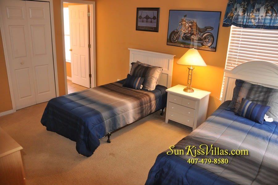 Disney Orlando Vacation Rental - Endless Summer - Twin Bedroom