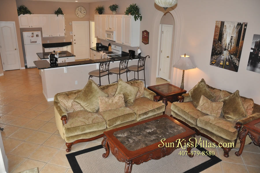Orlando Disney Vacation Home Rental - Grand Hereon - Family Room