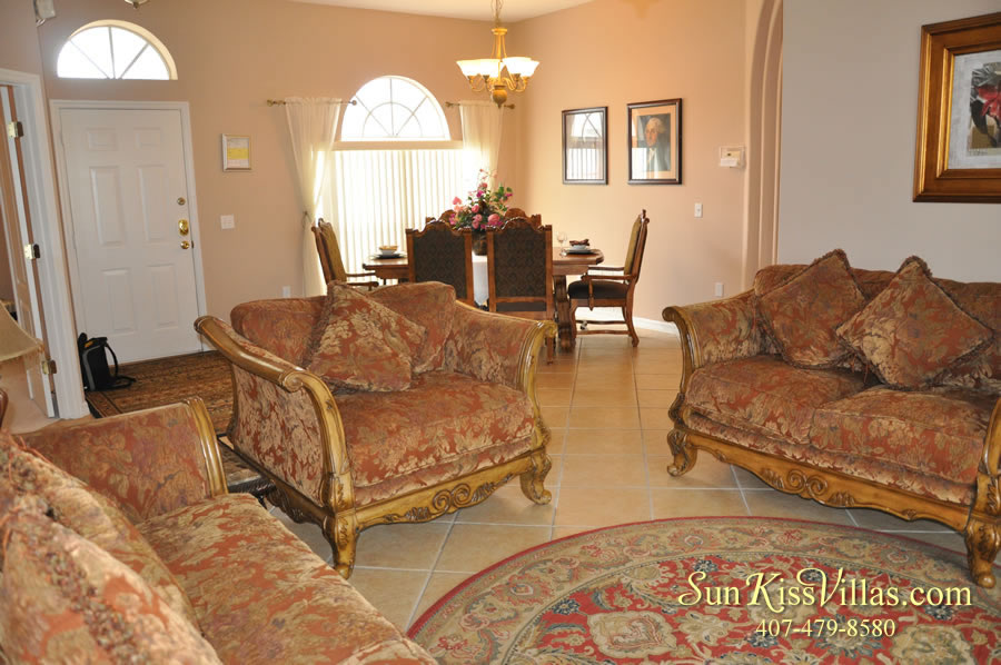 Orlando Disney Vacation Home Rental - Grand Hereon - Living Room
