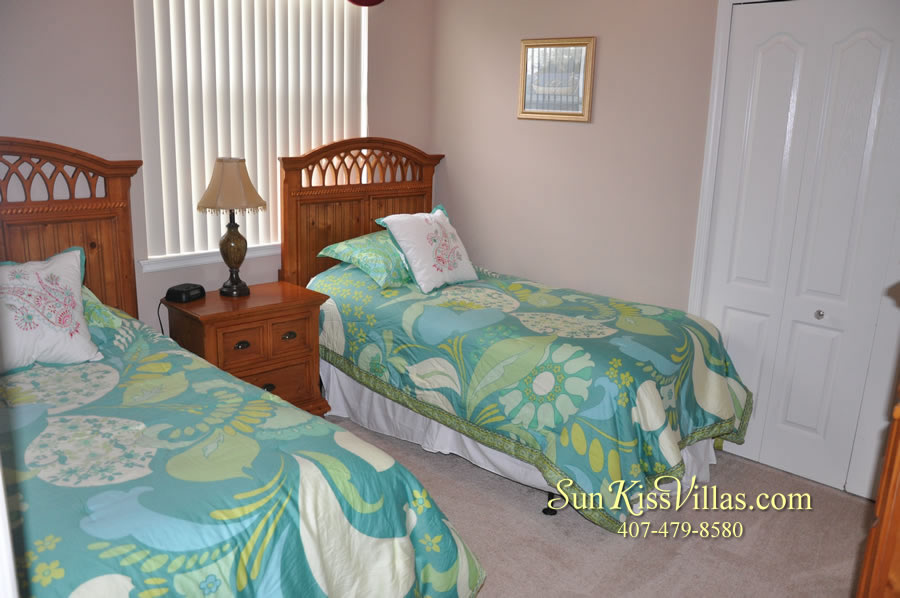 Orlando Disney Vacation Home Rental - Grand Hereon - Twin Bedroom