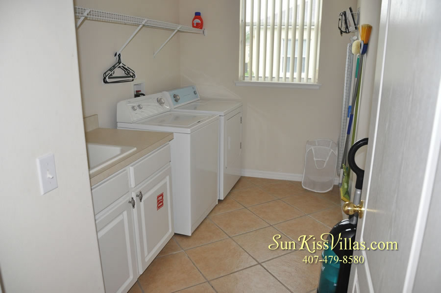 Orlando Disney Vacation Home Rental - Grand Hereon - Laundry Room