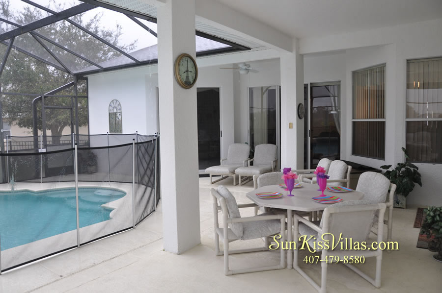 Orlando Disney Vacation Home Rental - Grand Hereon - Pool and Covered Lanai