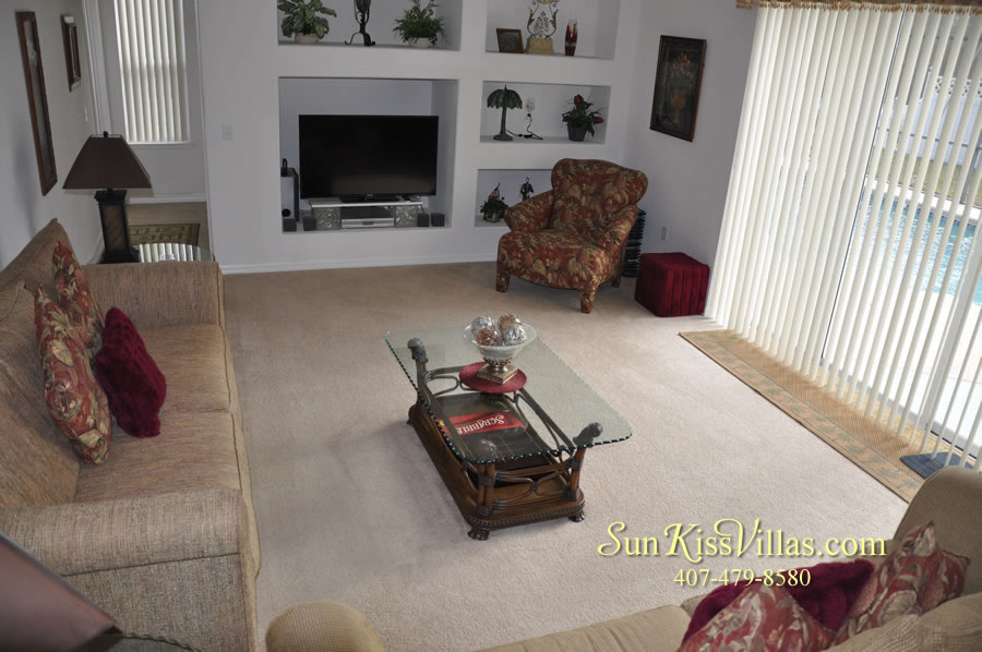 Orlando Disney Vacation Rental Home - Grand Oasis - Family Room