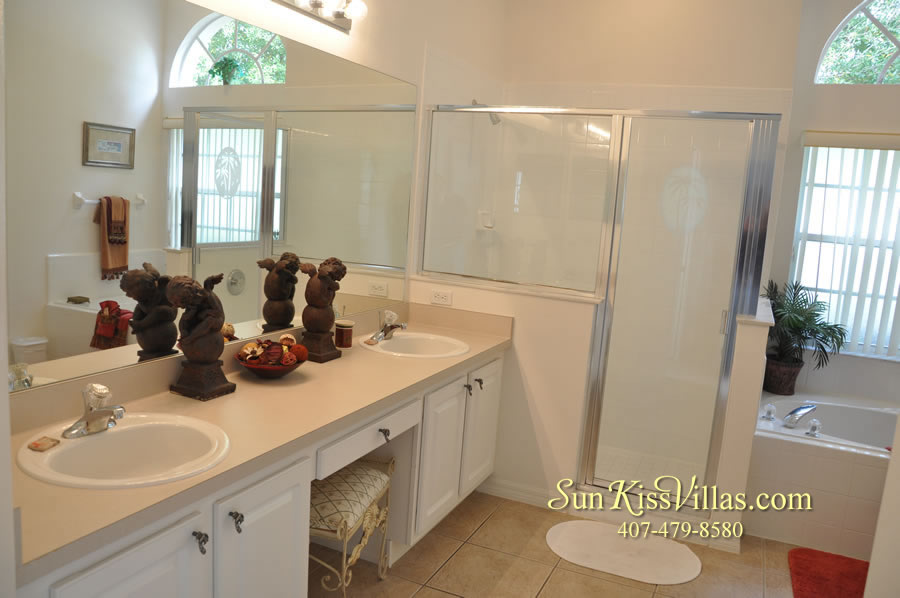 Orlando Disney Vacation Rental Home - Grand Oasis - Master Bath