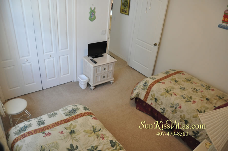 Orlando Disney Vacation Rental Home - Grand Oasis - Twin Bedroom