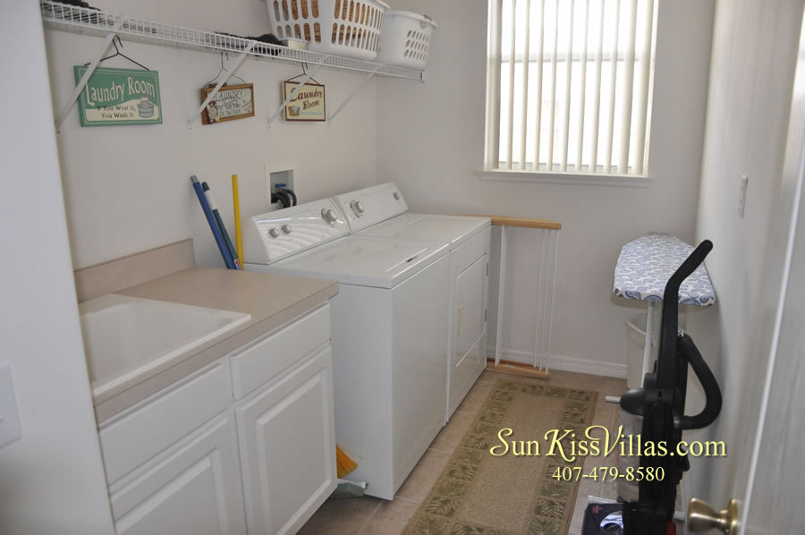 Orlando Disney Vacation Rental Home - Grand Oasis - Laundry Room