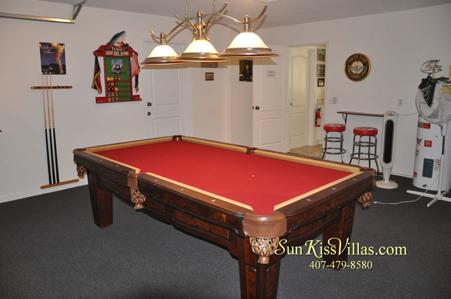 Orlando Disney Vacation Rental Home - Grand Oasis - Game Room