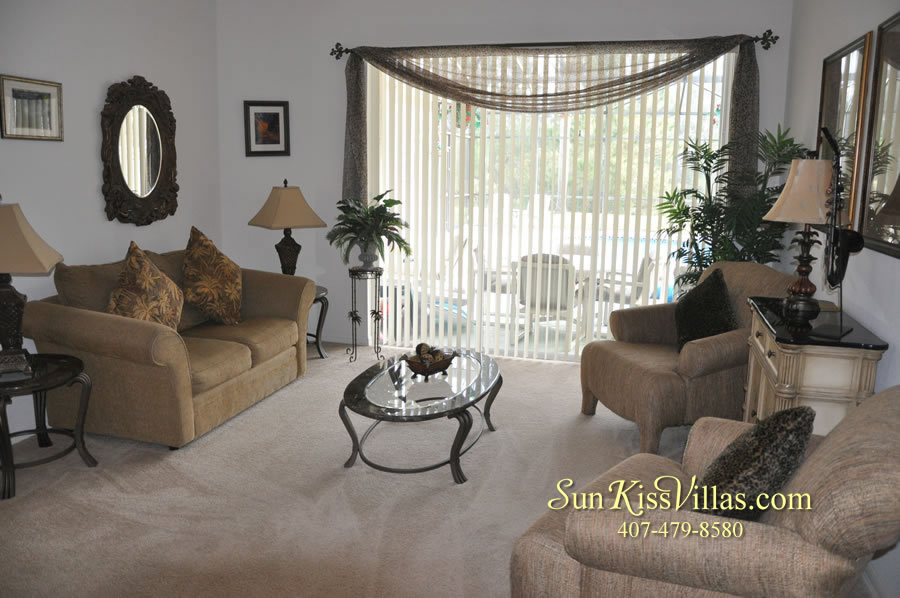 Orlando Disney Vacation Rental Home - Grand Oasis - Living Room
