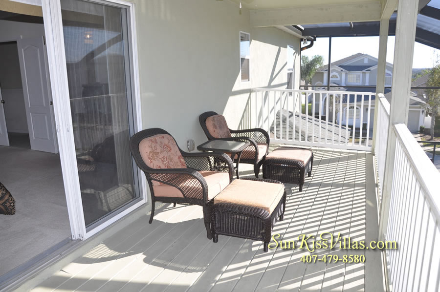 Disney Vacation Villa - Henley Park - Master Balcony