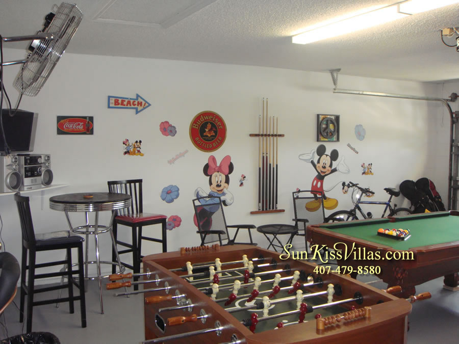 Orlando Villa Rental Near Disney - Keystone - Game Room