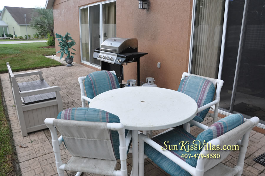 Orlando Villa Rental Near Disney - Keystone - Patio