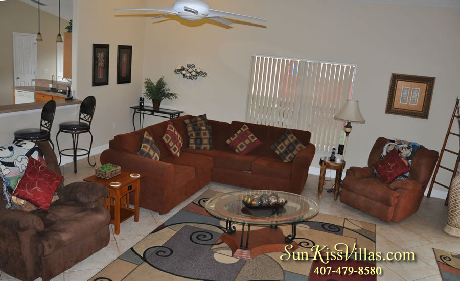 Orlando Villa Rental Near Disney - Keystone - Family Room