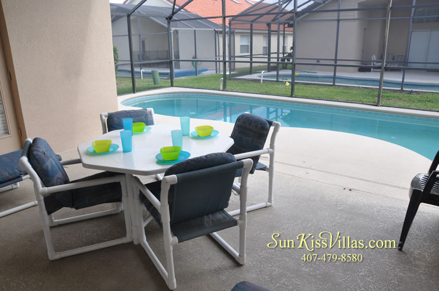 Disney Solana Vacation Rental Home - Mermaid Point - Pool and Covered Lanai