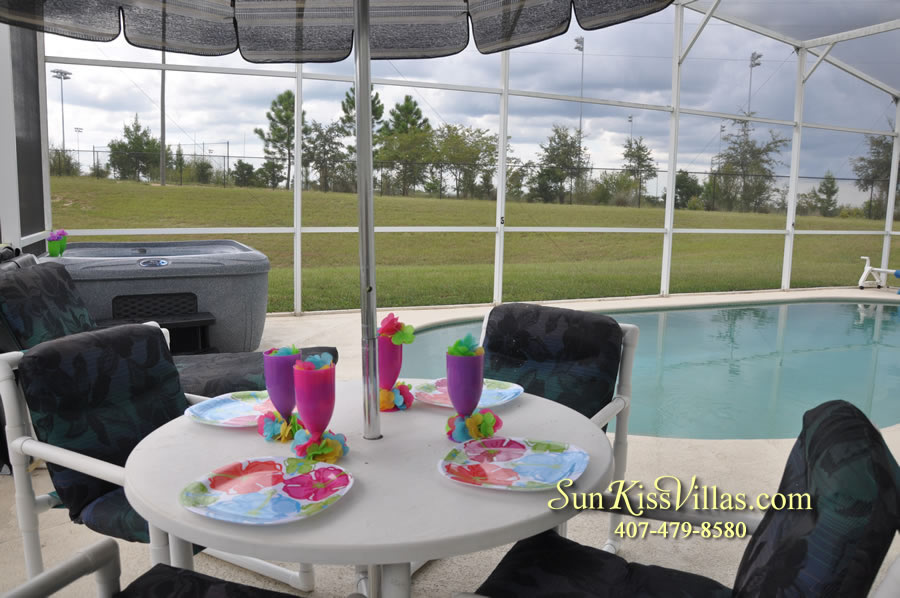 Disney Vacation Rental Home - Orange View Pool and Spa