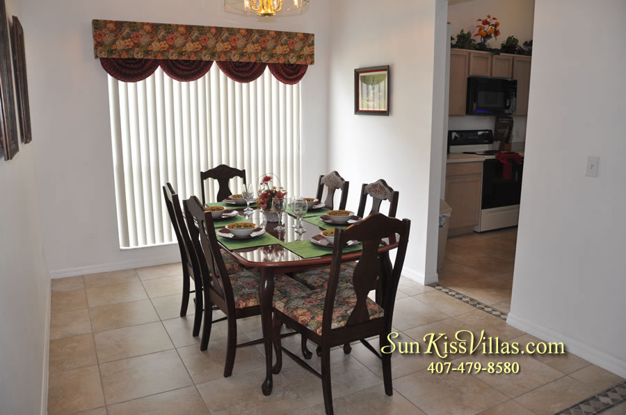 Disney Vacation Rental Home - Orange View Dining Room