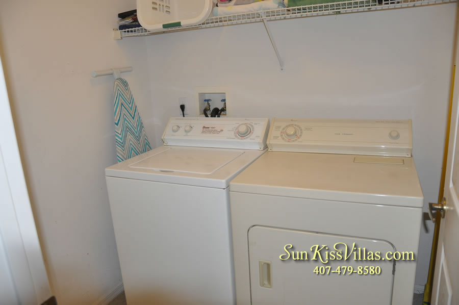 Disney Vacation Rental Home - Orange View Laundry room