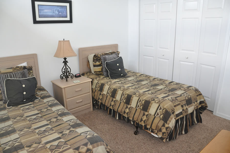 Orange View Vacation Home Rental Near Disney - Twin Bedroom