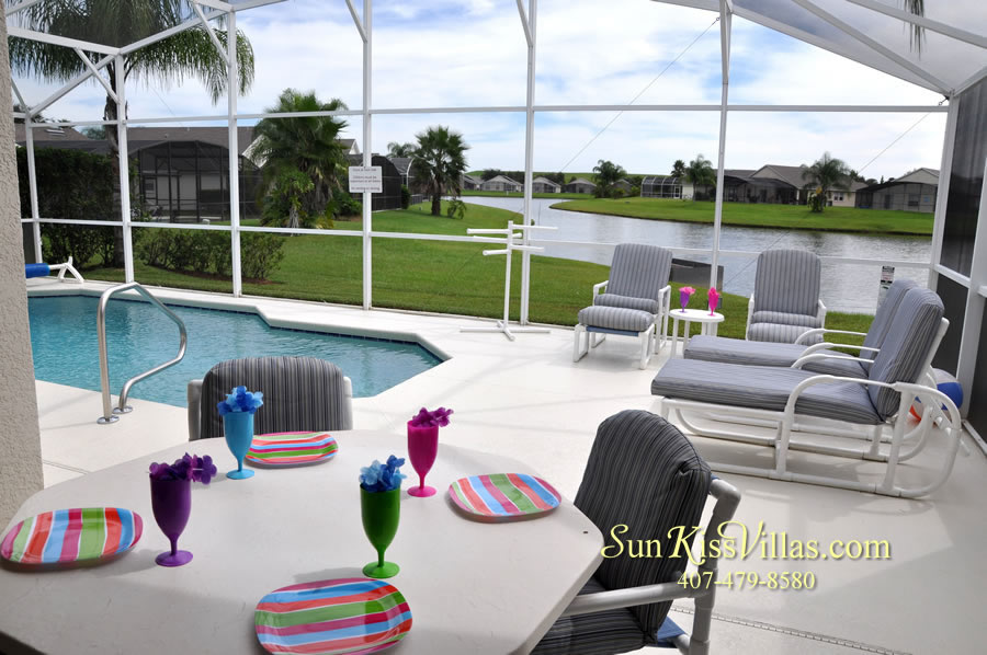 Orlando Vacation Rental - Palm Lake - Pool and Covered Lanai