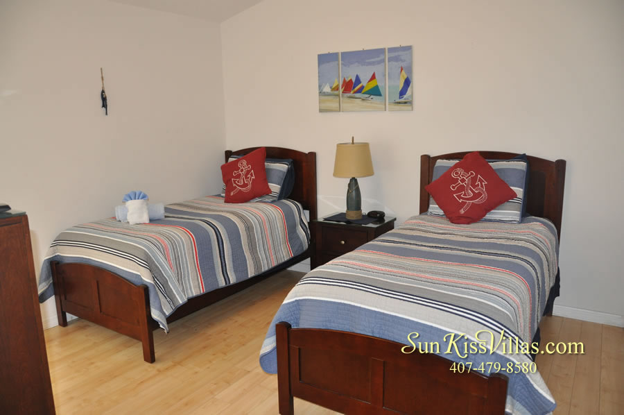 Orlando Disney Vacation Rental Solana - Pelican Point - Twin Bedroom