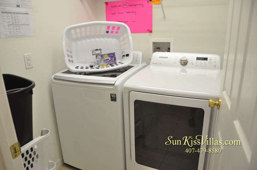 Orlando Disney Vacation Rental Solana - Pelican Point - Laundry Room