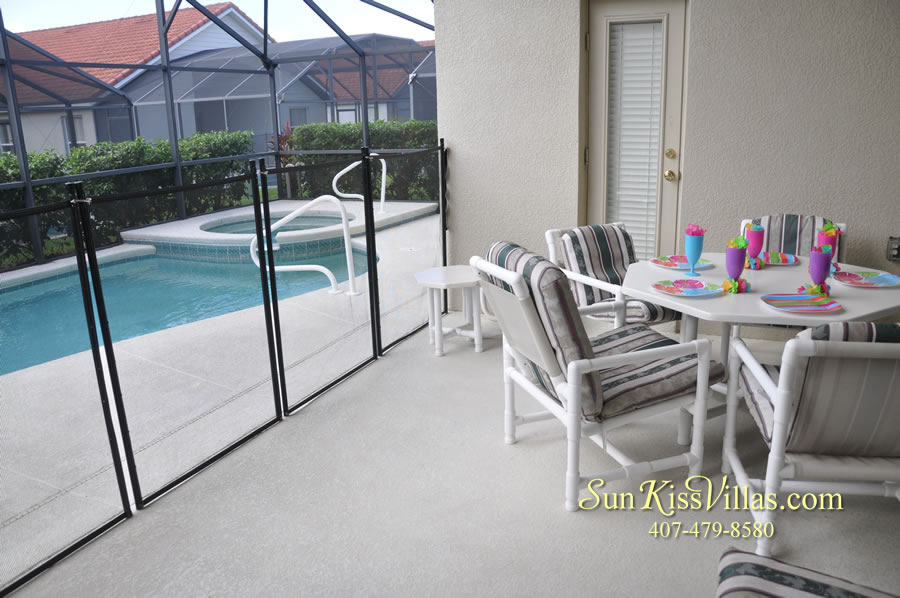 Orlando Disney Vacation Rental Solana - Pelican Point - Pool and Covered Lanai