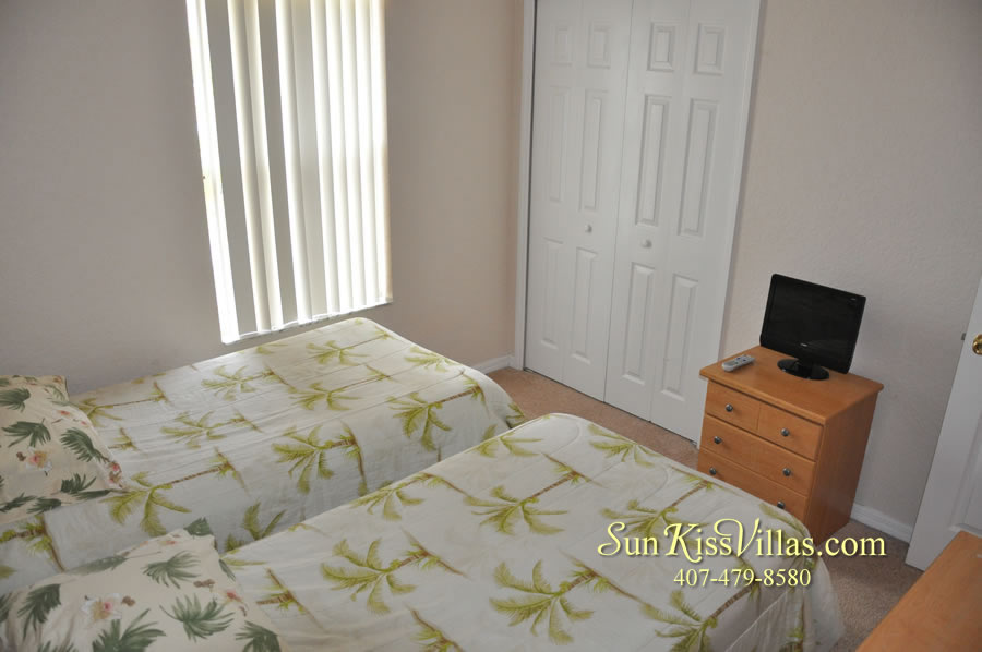 Disney Orlando Vacation Townhouse Rental - Quiet Cove - Twin Bedroom