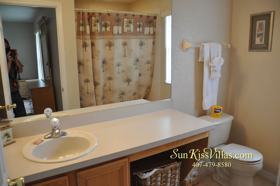 Disney Orlando Vacation Townhouse Rental - Quiet Cove - Master Bath