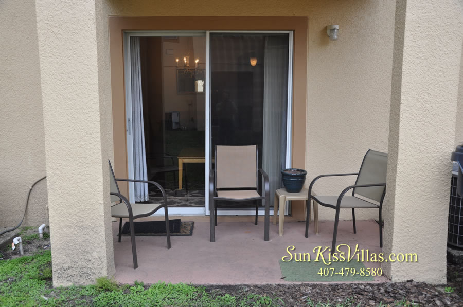 Disney Orlando Vacation Townhouse Rental - Quiet Cove - Patio