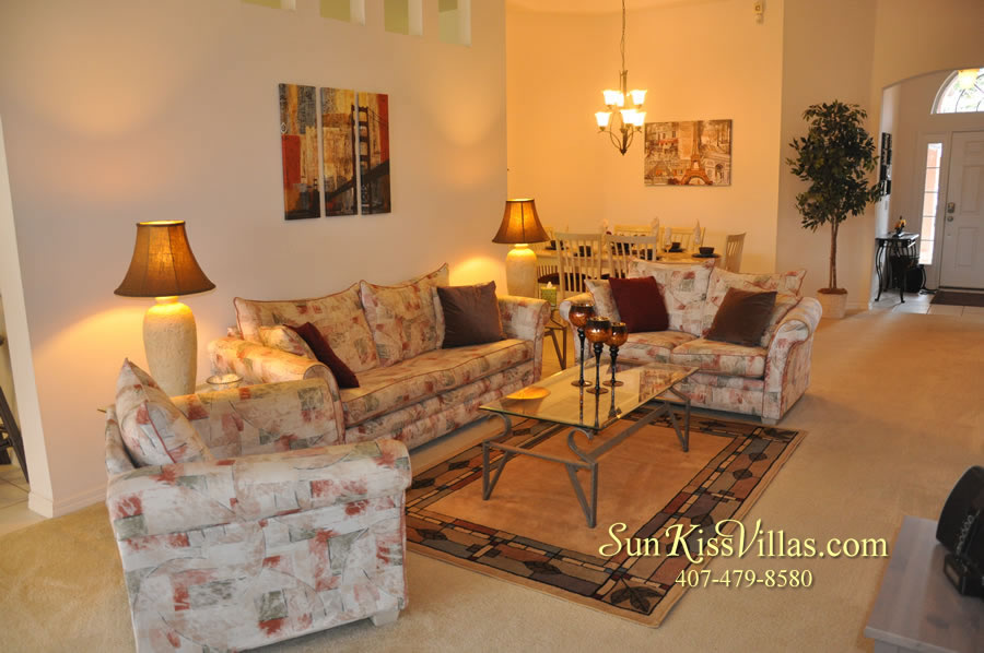 Vacation Home Rental Near Disney World - Sapphire Blue - Family Room