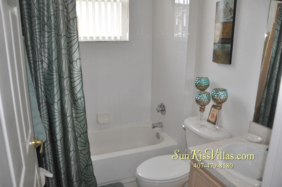 Vacation Home Rental Near Disney World - Sapphire Blue - Bathroom