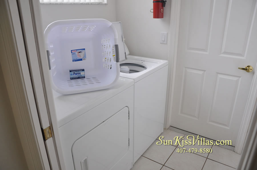 Vacation Home Rental Near Disney World - Sapphire Blue - Laundry Room