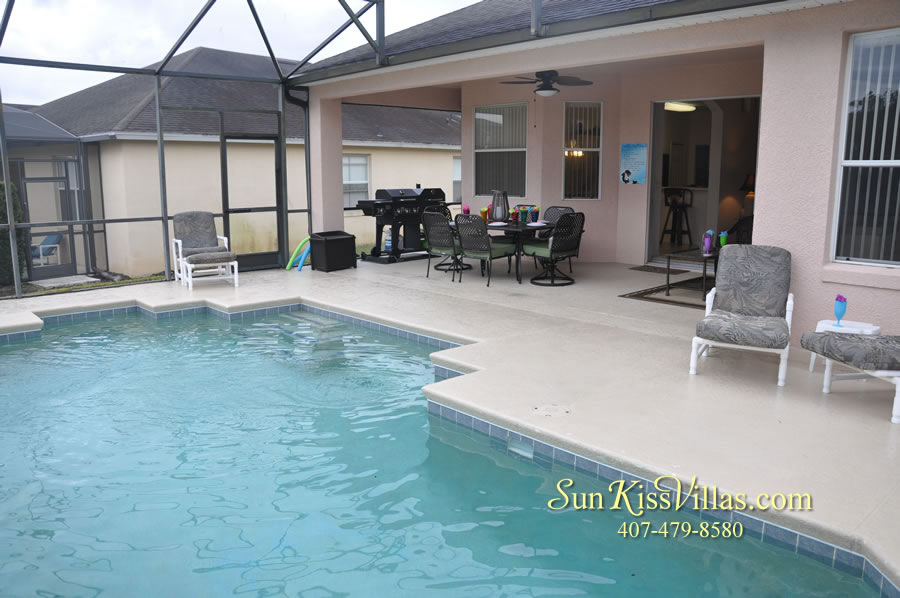 Vacation Home Rental Near Disney World - Sapphire Blue - Pool and Lanai
