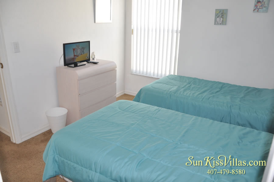Disney Vacation Rental Home - Shangri-la Twin Bedroom