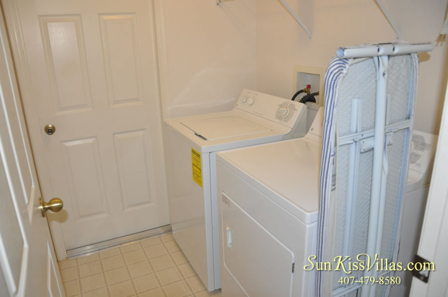 Disney Vacation Rental Home - Shangri-la Laundry Room