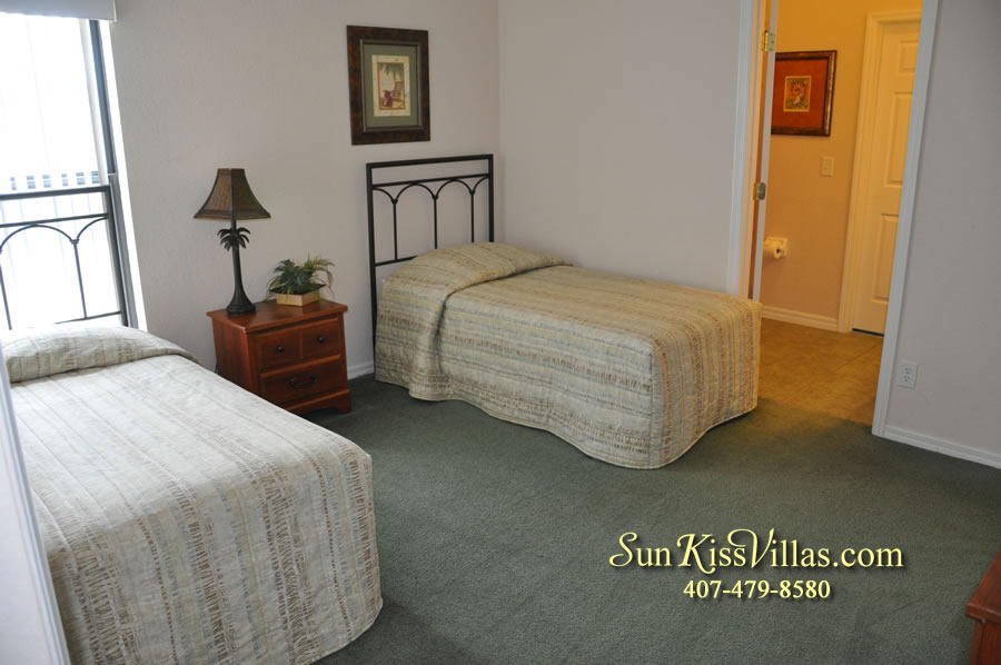 Disney Villa Rental - Tuscan Sun - Twin Bedroom