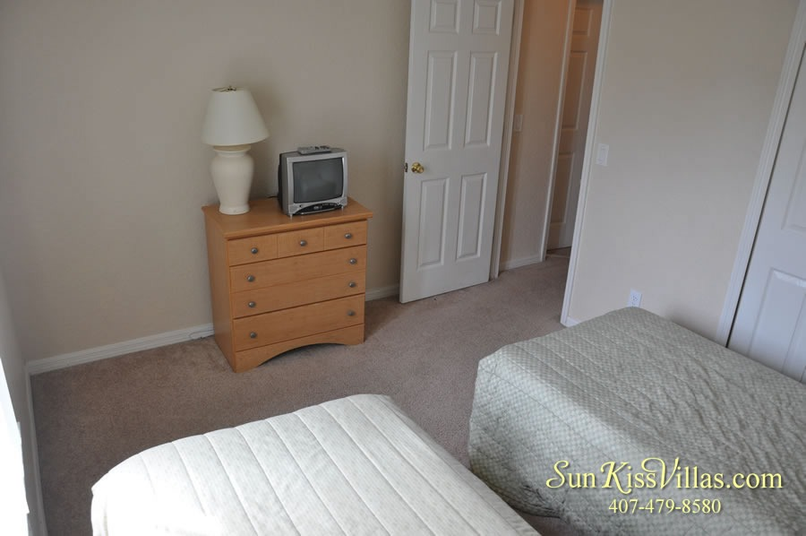 Vacation Townhouse Rental Disney - Trade Winds - Twin Bedroom